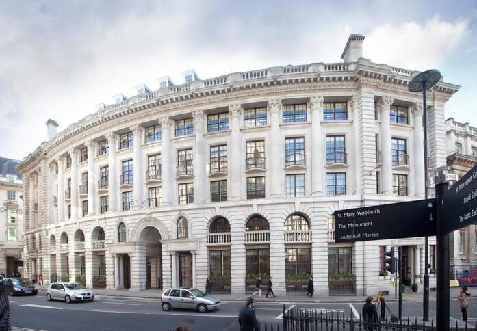 Lombard Street EC2 office space – Building External