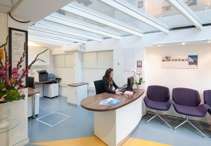 Kings Cross Road WC1 office space – Reception