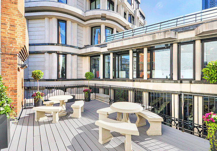 Royal Exchange Avenue EC1 office space – Outdoor Area