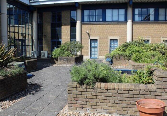 Home Gardens DA1 office space – Building External