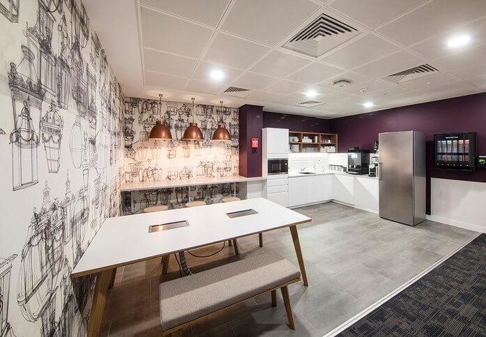 Austin Friars EC2 office space – Kitchen