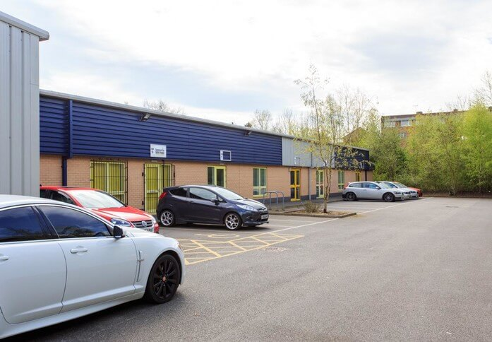Enterprise Close NG18 office space – Building External