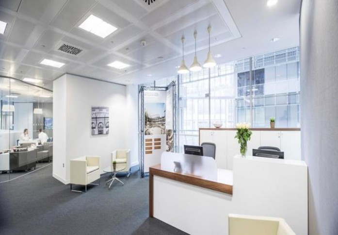 Broadgate EC2 office space – Reception