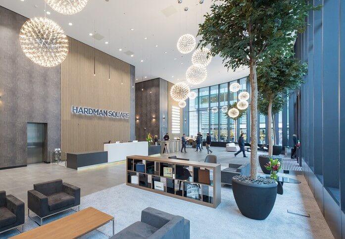 Hardman Square M1 office space – Reception