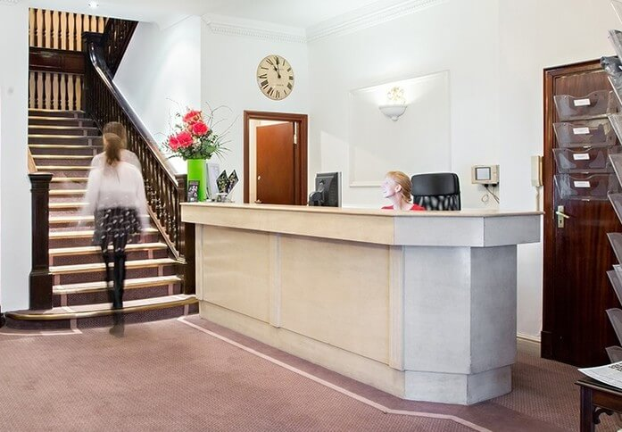 Kensington Church Street W8 office space – Reception