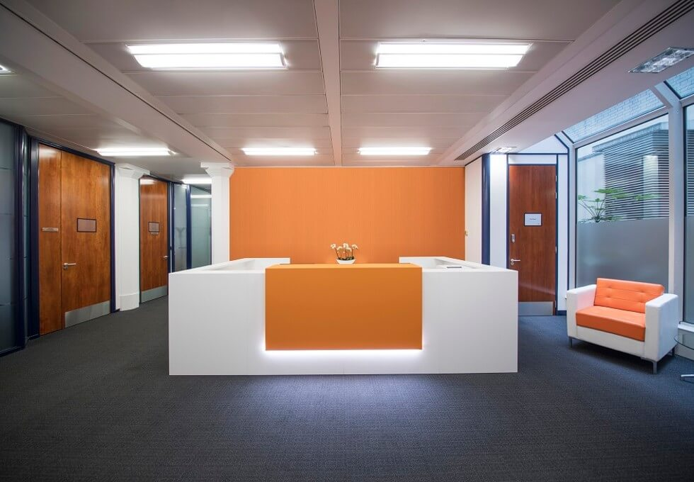 St Martin's Le Grand EC1 office space – Reception