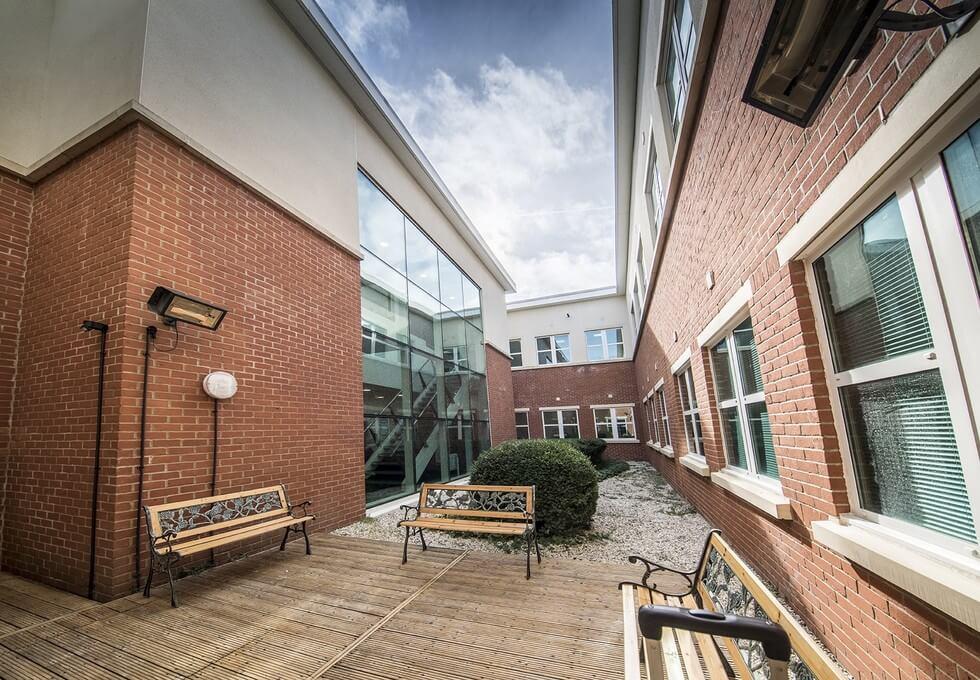 Capability Green LU1 office space – Courtyard
