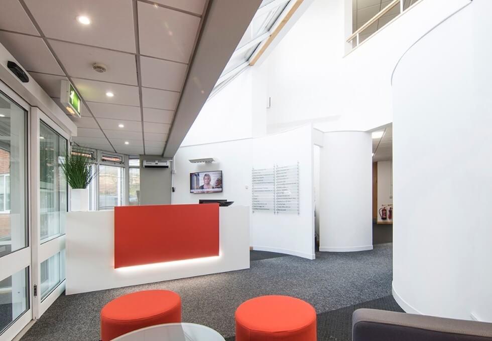 Emperor Way EX2 office space – Reception