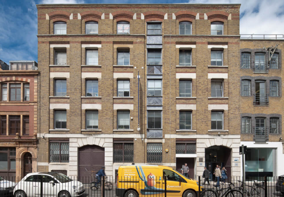 Brune Street E1 office space – Building External