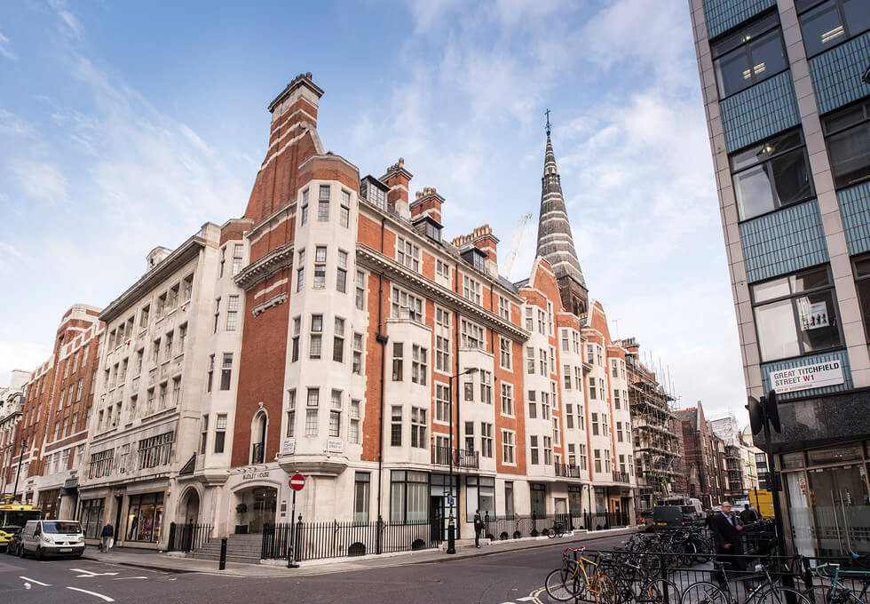 Margaret Street W1 office space – Building External