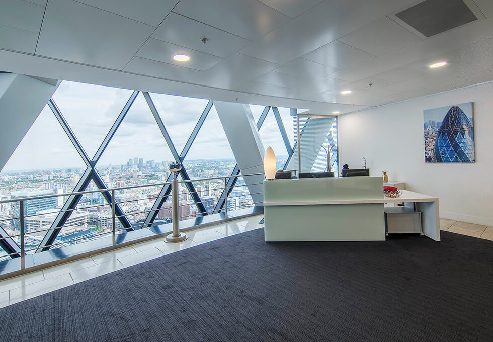 St Mary Axe EC1 office space – Reception