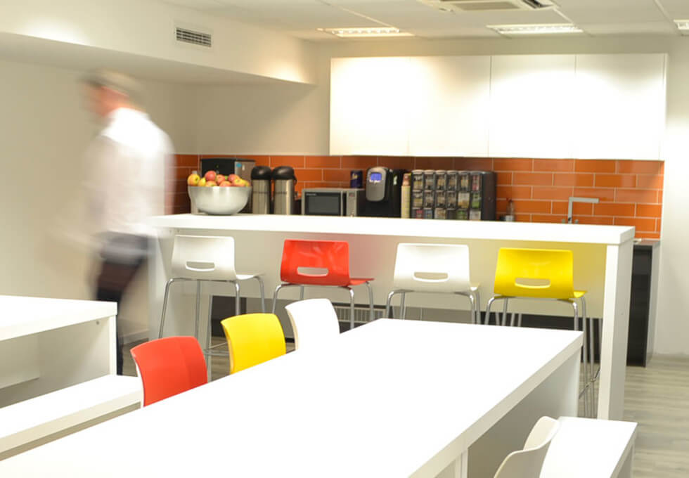 Minories E1 office space – Kitchen