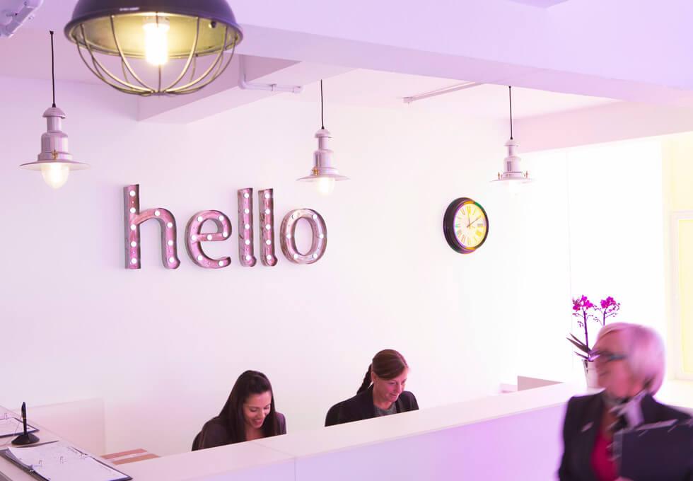 Blucher Street B1 office space – Reception