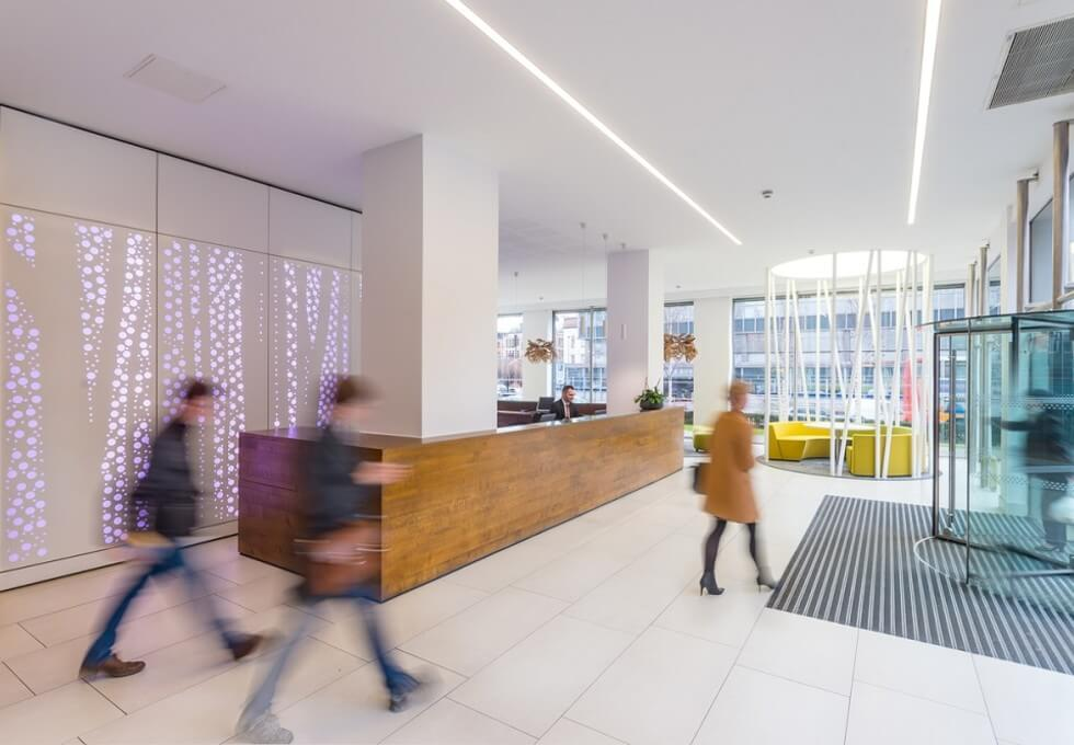 Portland Street M1 office space – Reception