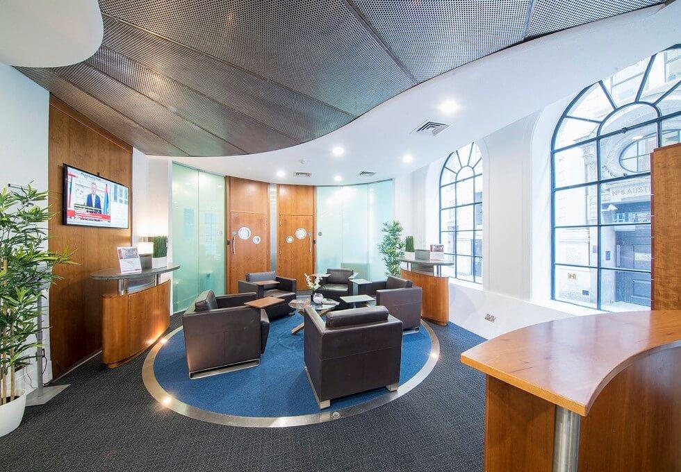 Austin Friars EC2 office space – Reception