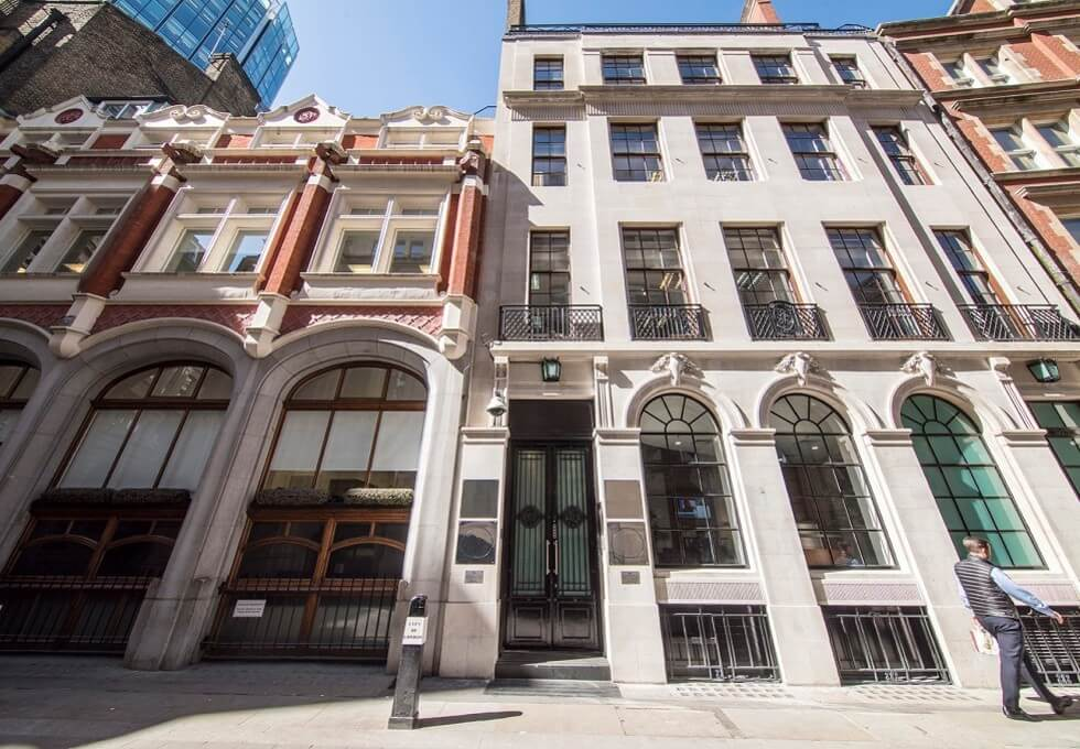 Austin Friars EC2 office space – Building External