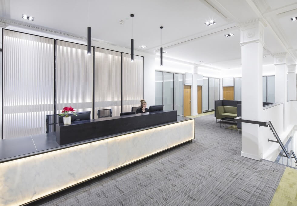 Queen Street G1 office space – Reception