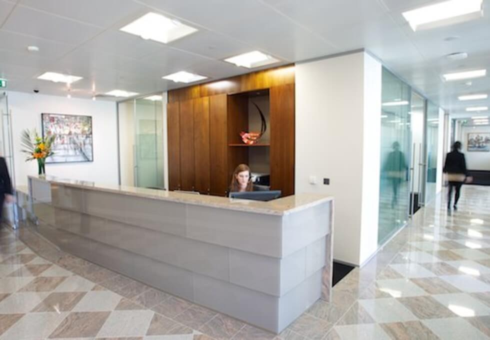 Bank Street E14 office space – Reception