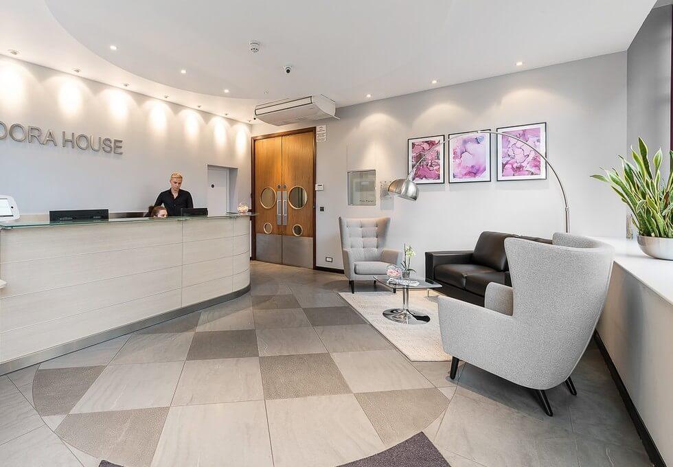 Mortimer Street W1 office space – Reception