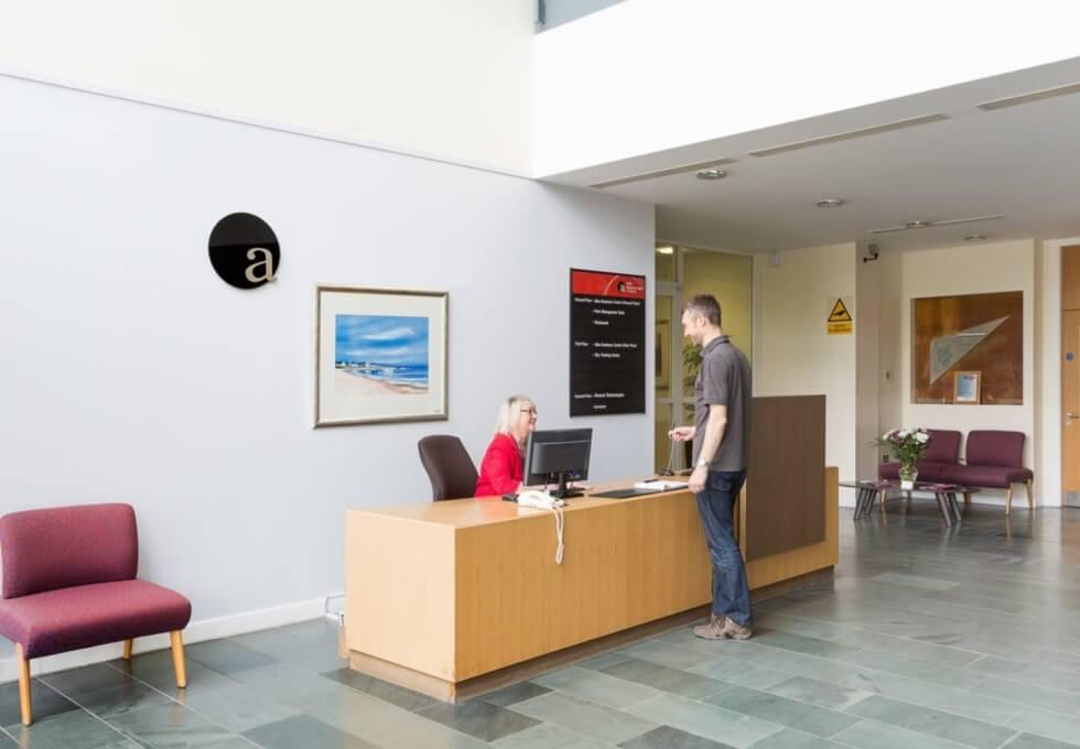 Rosebank EH54 office space – Reception