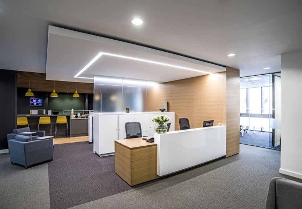 Kensington High Street W8 office space – Reception