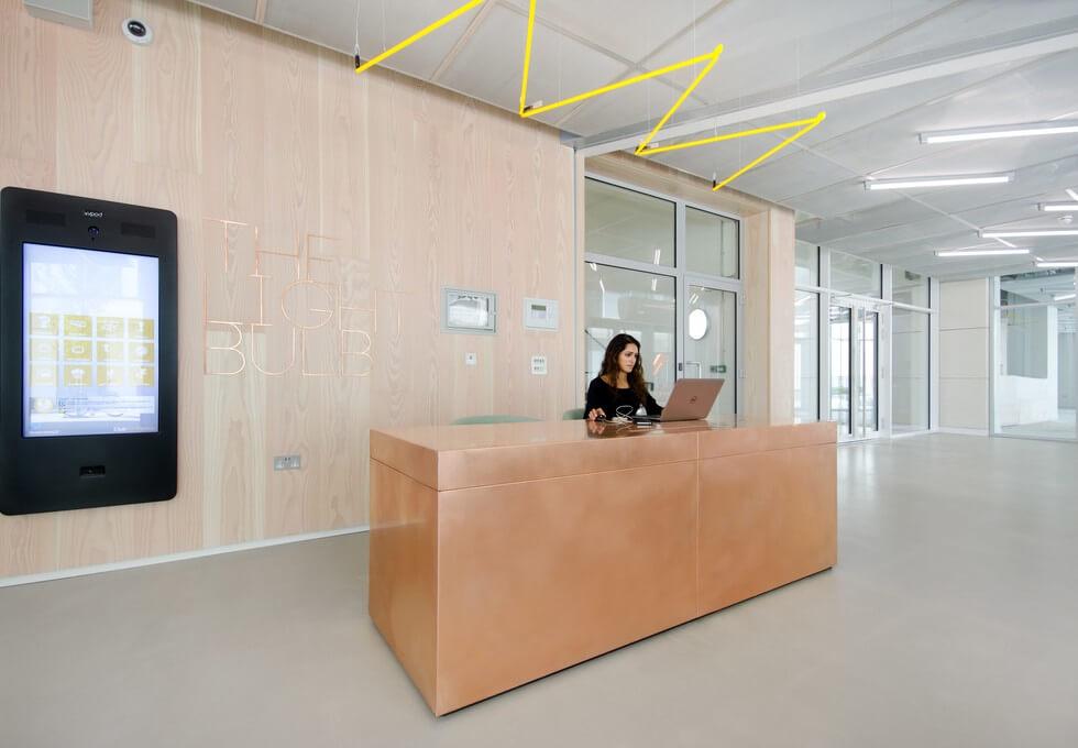 Filament Walk SW8 office space – Reception