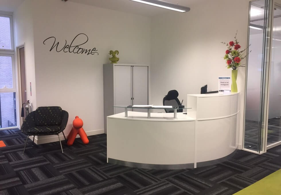 Lever Street M1 office space – Reception