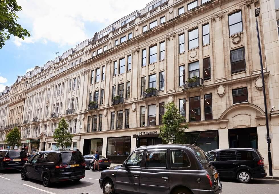 Great Portland Street W1 office space – Building External
