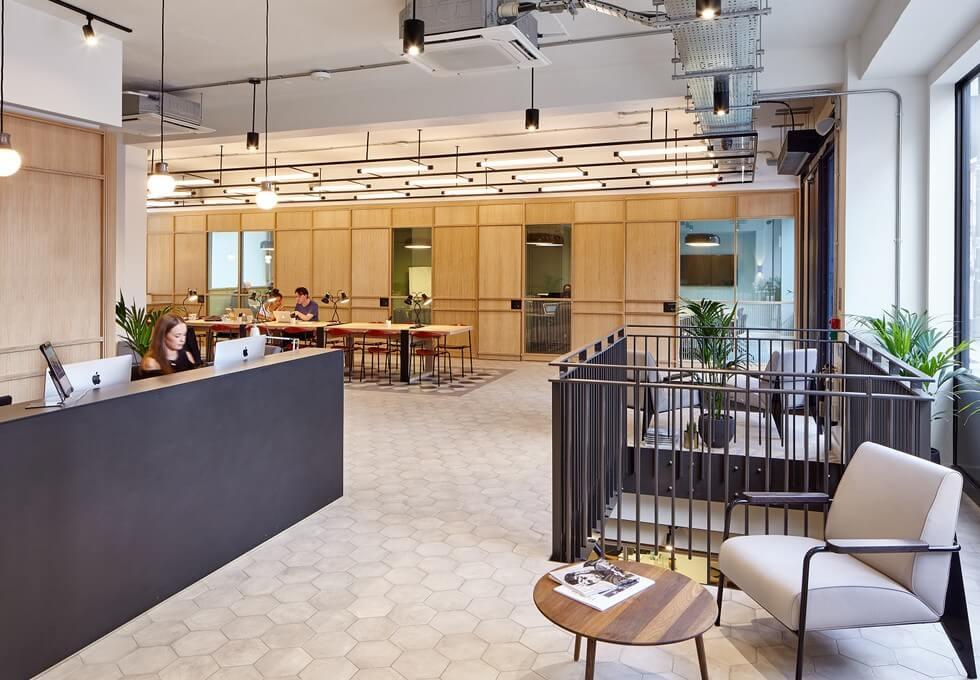Great Portland Street W1 office space – Reception