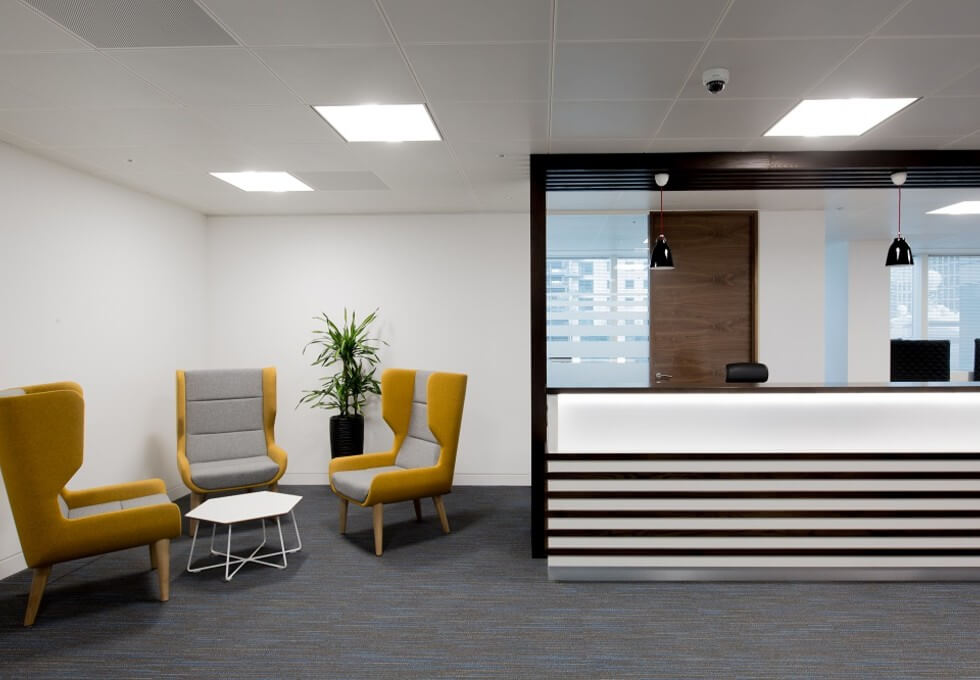 Marsh Wall E14 office space – Reception