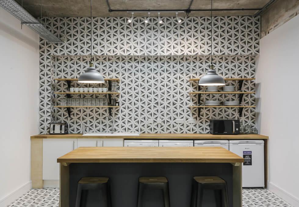 Luke Street EC1 office space – Kitchen