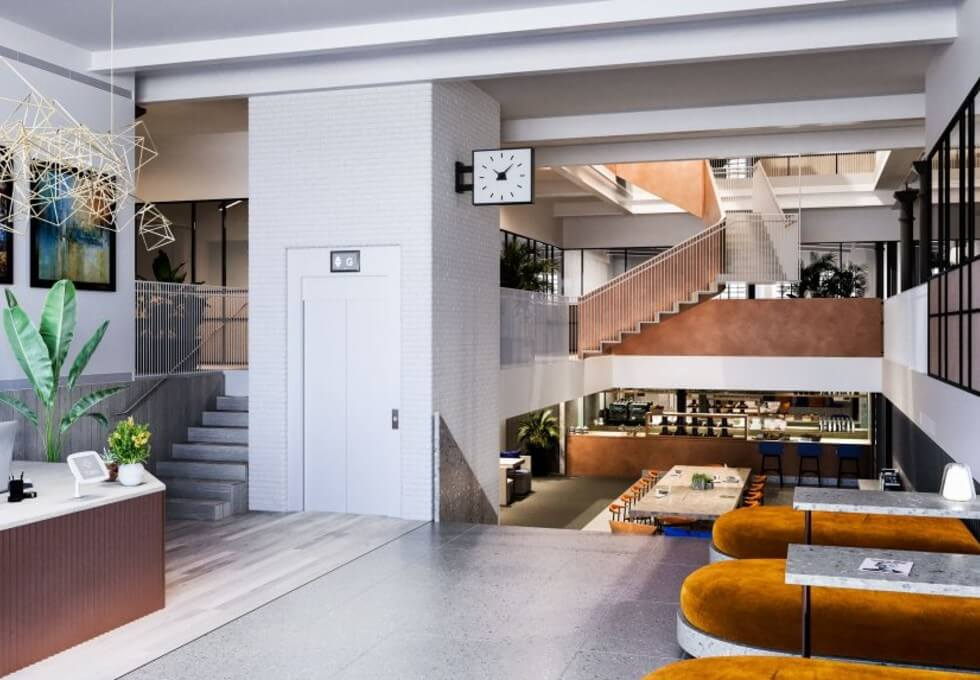 Princelet Street E1 office space – Foyer