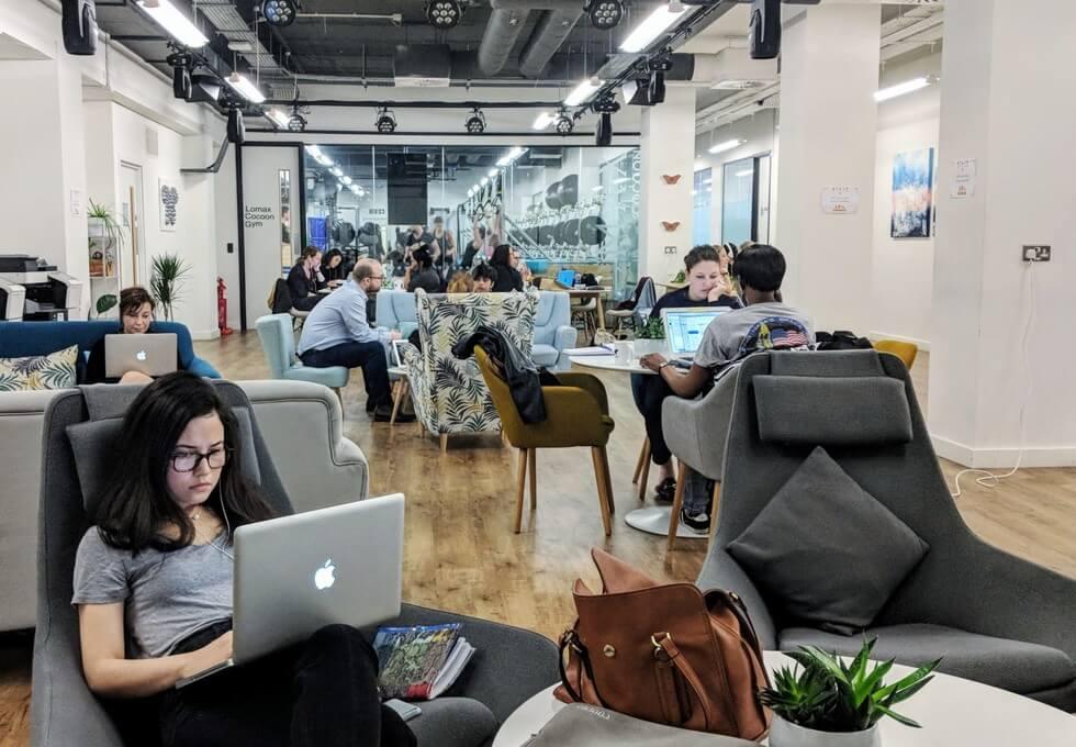 Christopher Street EC2 office space – Break Out Area