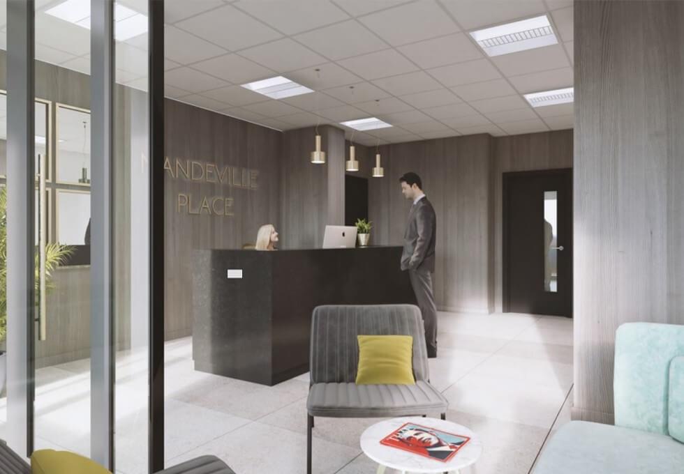 Mandeville Place W1K office space – Reception