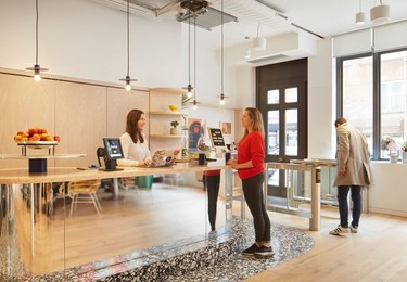 Hatton Garden EC1 office space – Reception