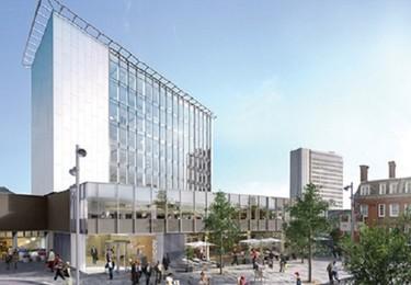 Chertsey Road GU21 office space – Building external