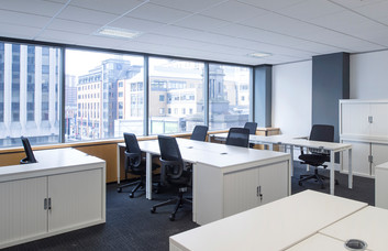 Broad Street B1 office space – Private Office (different sizes available).