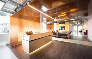 Bernard Street WC1 office space – Reception