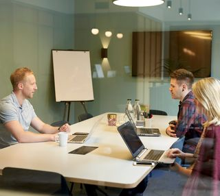 Great Portland Street W1 office space – Meeting/Boardroom.