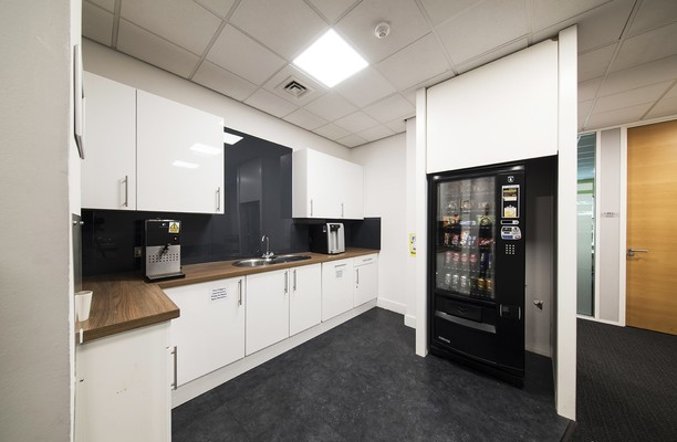 Capability Green LU1 office space – Kitchen