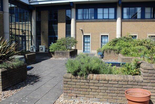 Home Gardens DA1, DA2 office space – Building External