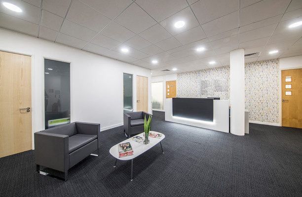St. Crispins Road office space – Reception