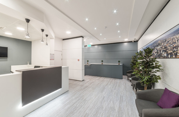 Princes Street EH1 office space – Reception