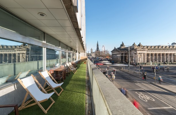 Princes Street EH1 office space – Outdoor Area