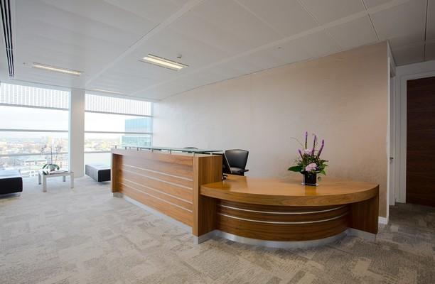 Crown Place EC2 office space – Reception