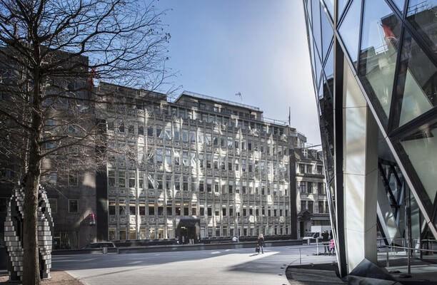 Bury Street E1, EC3 office space – Building External