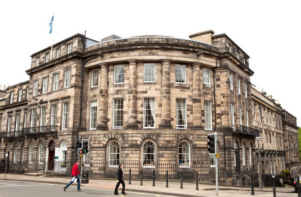 St Colme Street EH1 office space – Building External