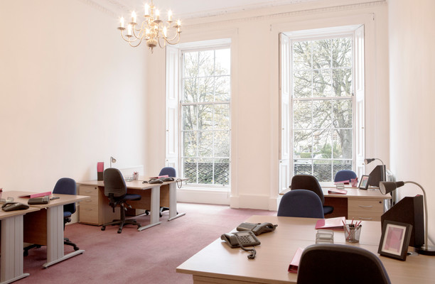 St Colme Street EH1 office space – Private Office (different sizes available).