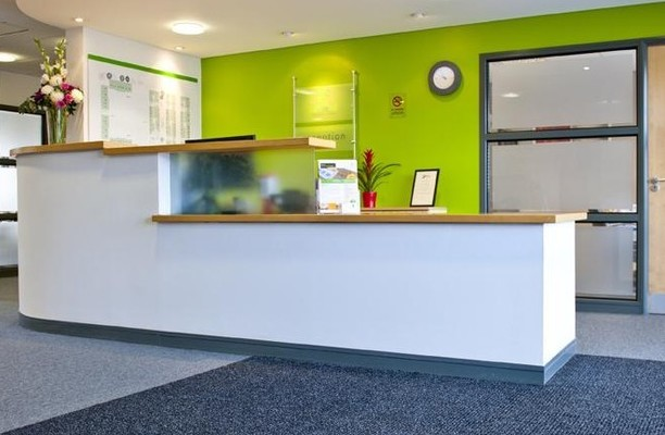 Enterprise Way BH23 office space – Reception