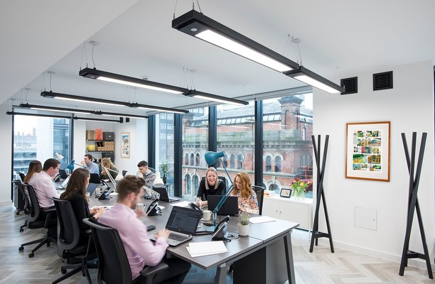 Charlotte Street M1 office space – Private Office (different sizes available).